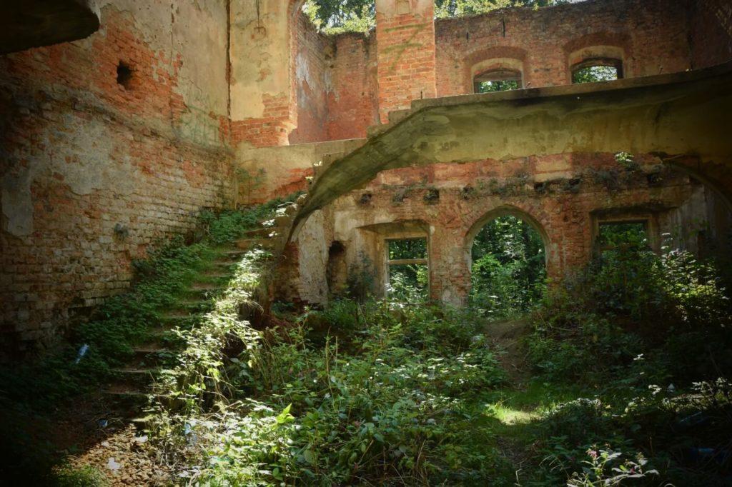 Ruiny pałacu w Głębowicach