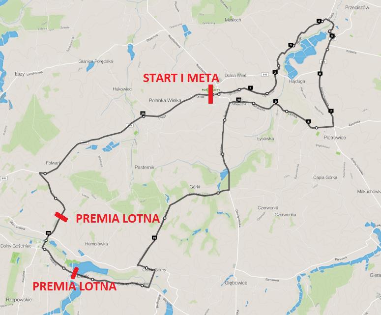 mapa wyścigu