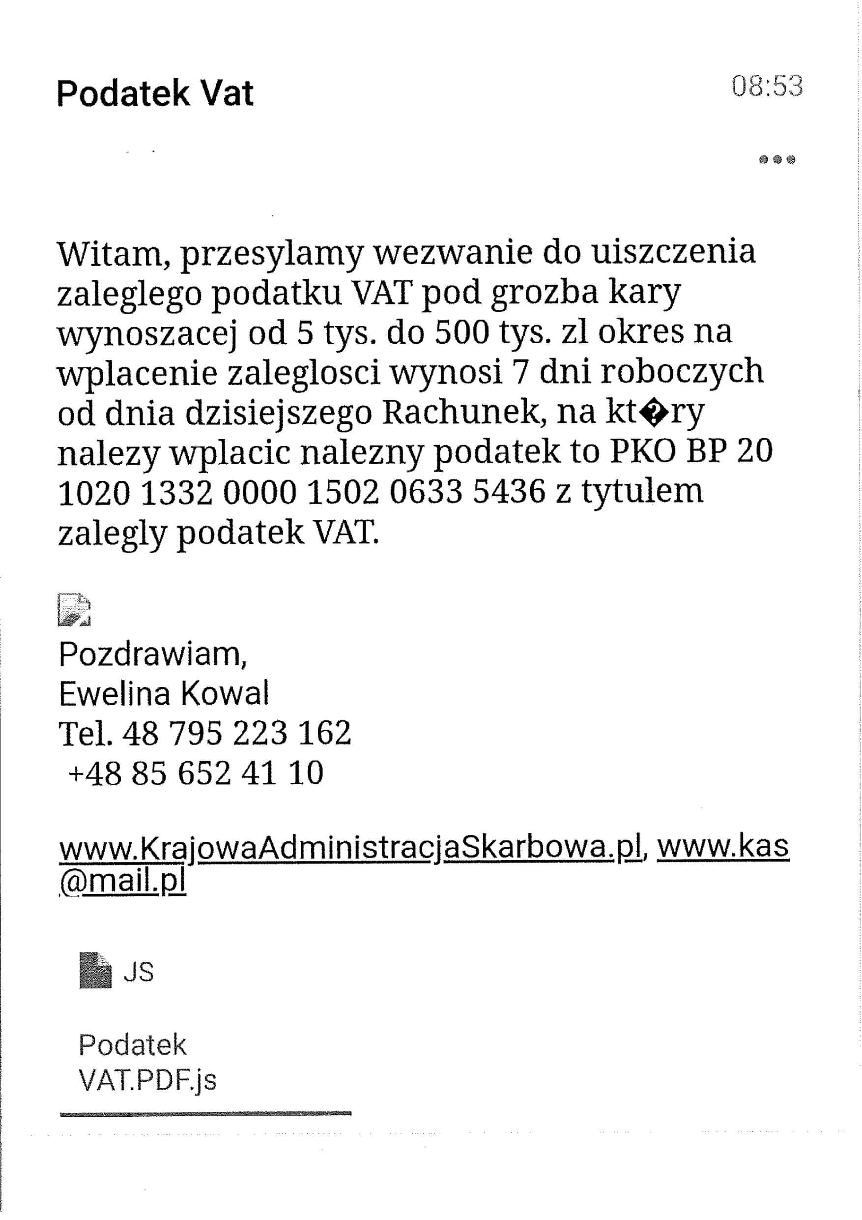 fałszywe maile