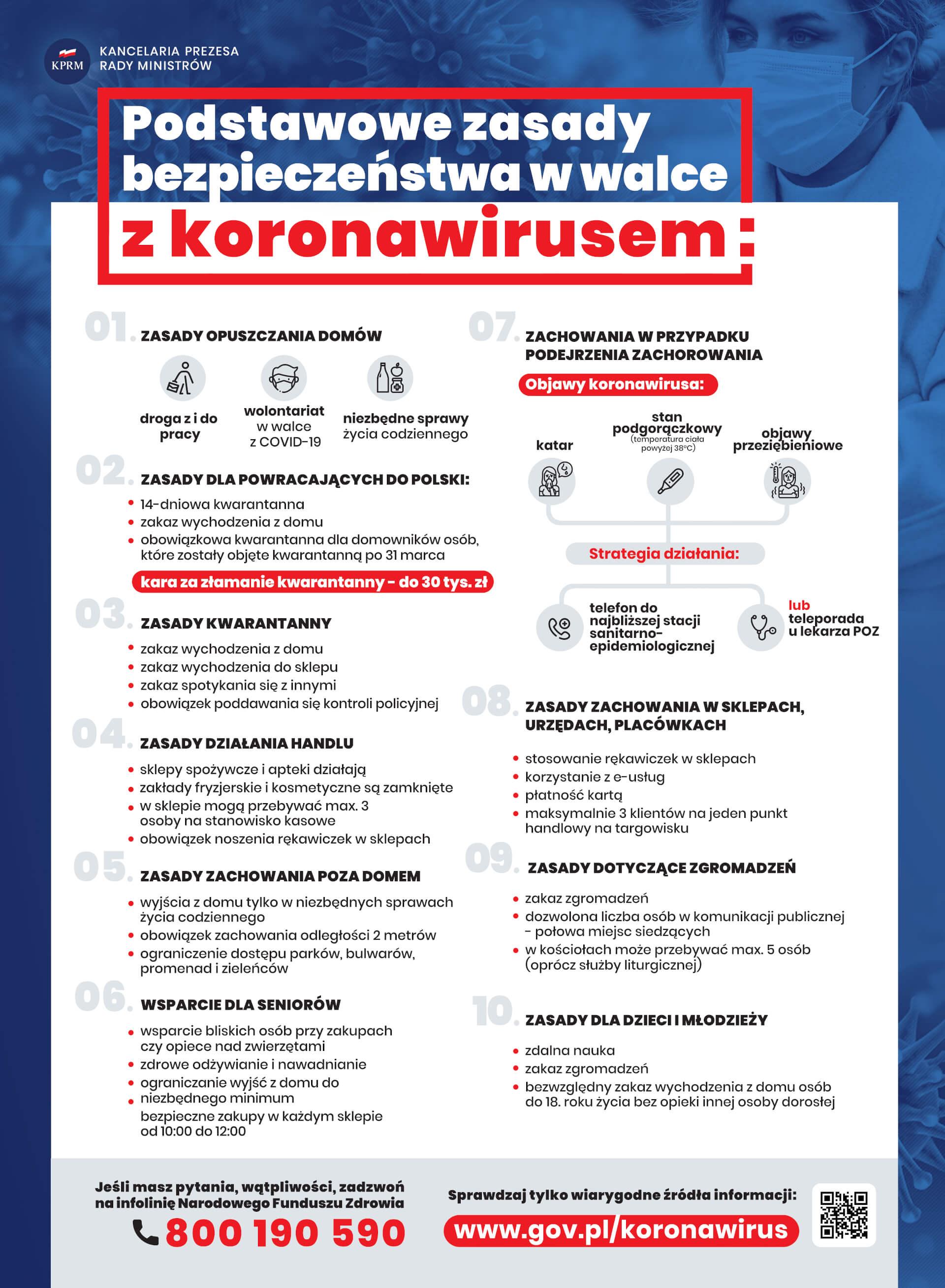 plakat koronawirus