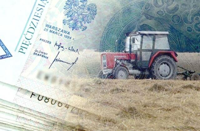 traktor i pieniądze