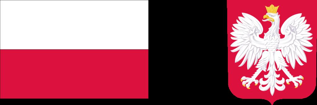 flaga Polski i herb Polski
